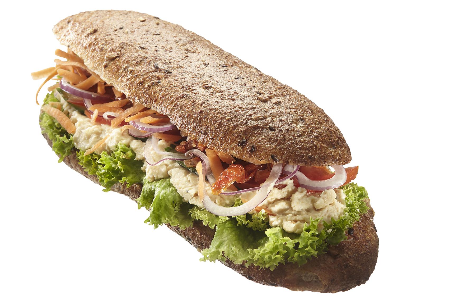 Lækre sunde sandwich og friske salater